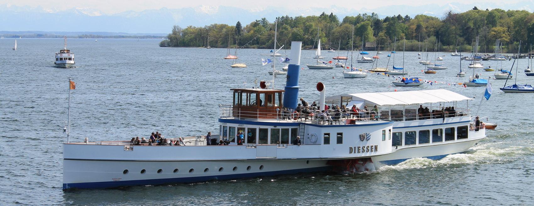 Ausflug mit dem Dampfer auf dem Ammersee